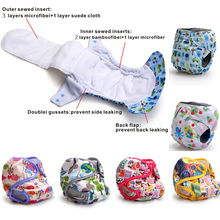 Baby Heavy Wetter Night AIO AI2 Diapers cheap and Wholesale Kawaii Diapers Double Gussets Suede Cloth Or Bamboo Charcoal Inner(China (Mainland))