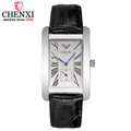 CHENXI Luxury Men Leather Strap Quartz Watch Male Simple Square Independent Second Dial Men s 30m