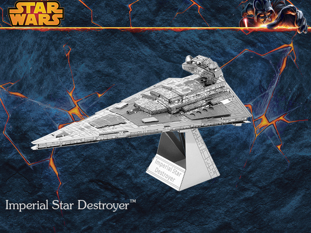Imperial Star Destroyer model laser cutting 3D puzzle DIY metalic spacecraft jigsaw free shipping Star war model birthday gifts(China (Mainland))