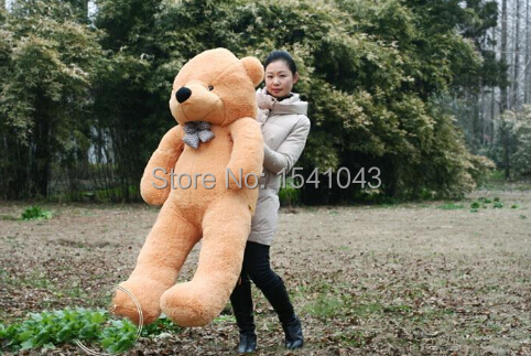 GIANT 120CM 47'' Cotton Light Brown Giant 120cm Cute Plush Teddy Bear Huge Soft TOY(China (Mainland))