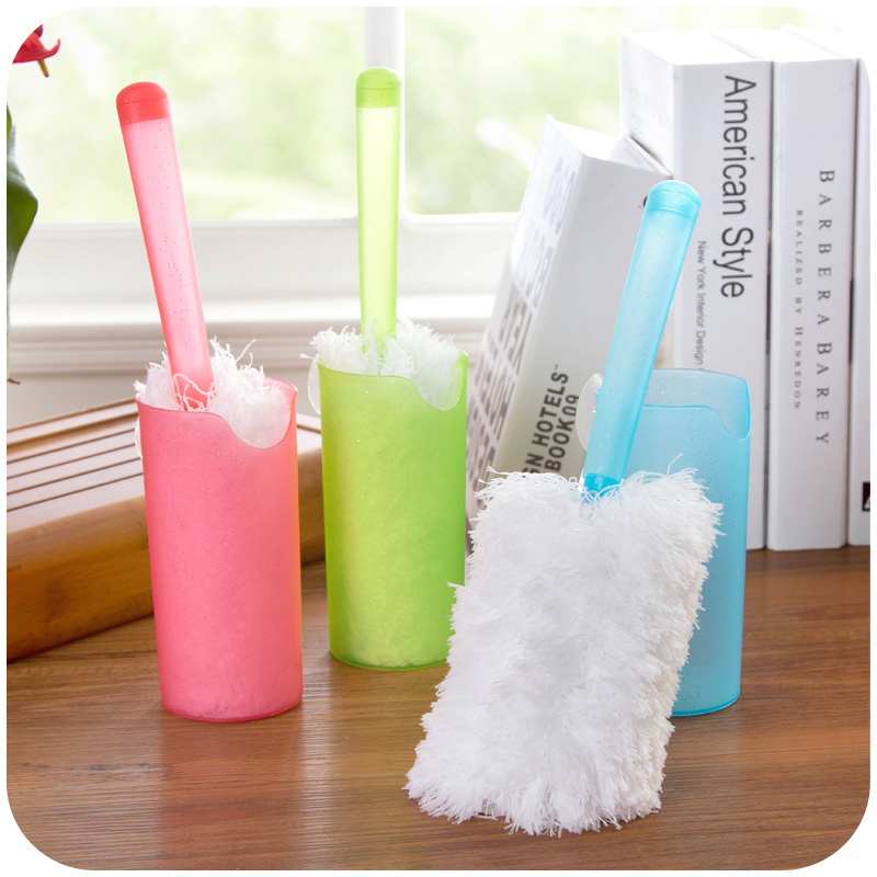 With a suction cup microfiber duster electrostatic dust, household cleaning duster dusting brush car shipping K4891(China (Mainland))