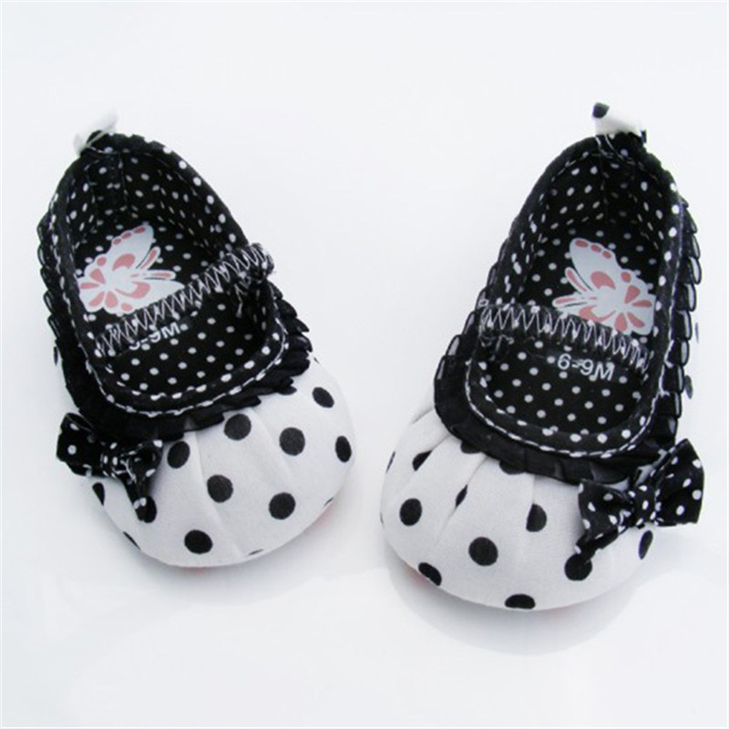 White Bowknot Baby Girl Lace Shoes Toddler Prewalker Anti-Slip Shoe Simple Baby Shoes(China (Mainland))