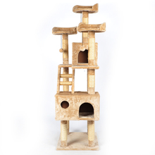 cat climbing tree cat tree tower Luxury cat climbing frame multilayer cat scratching tree solid wood 24KG(China (Mainland))