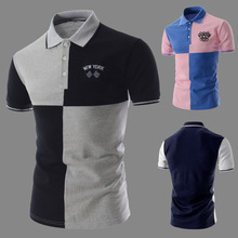 2015 new font b men s b font fashion personality color short sleeved POLO font b
