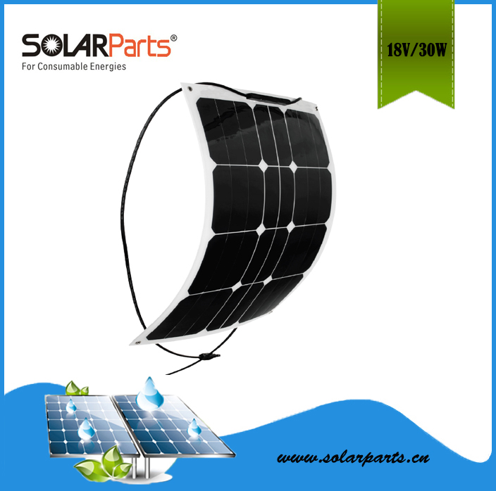 50W  semi- flexible solar panel solar module for RV/Boat/Golf cart/Marine/Yachts/Home use with junction box and MC4 connector <br><br>Aliexpress