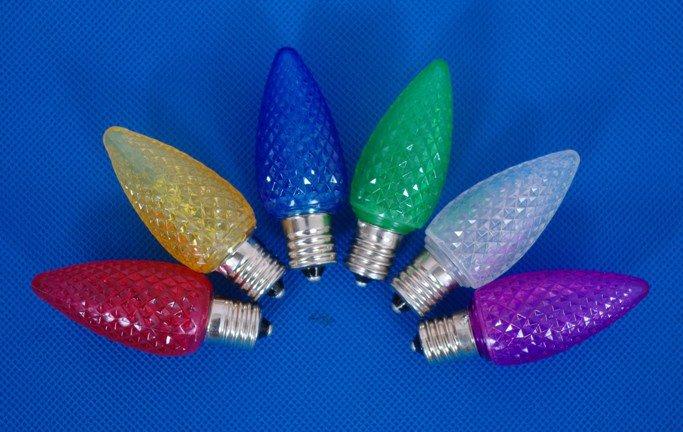 100pcs/lot flashing C7 LED light bulb,E12 base,CE and UL approved;blue color(China (Mainland))