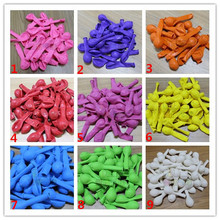 50pcs/lot 1.2g 5inch Latex Round Ballons Wedding Party Birthday Decoration helium pure color Balloons(China (Mainland))