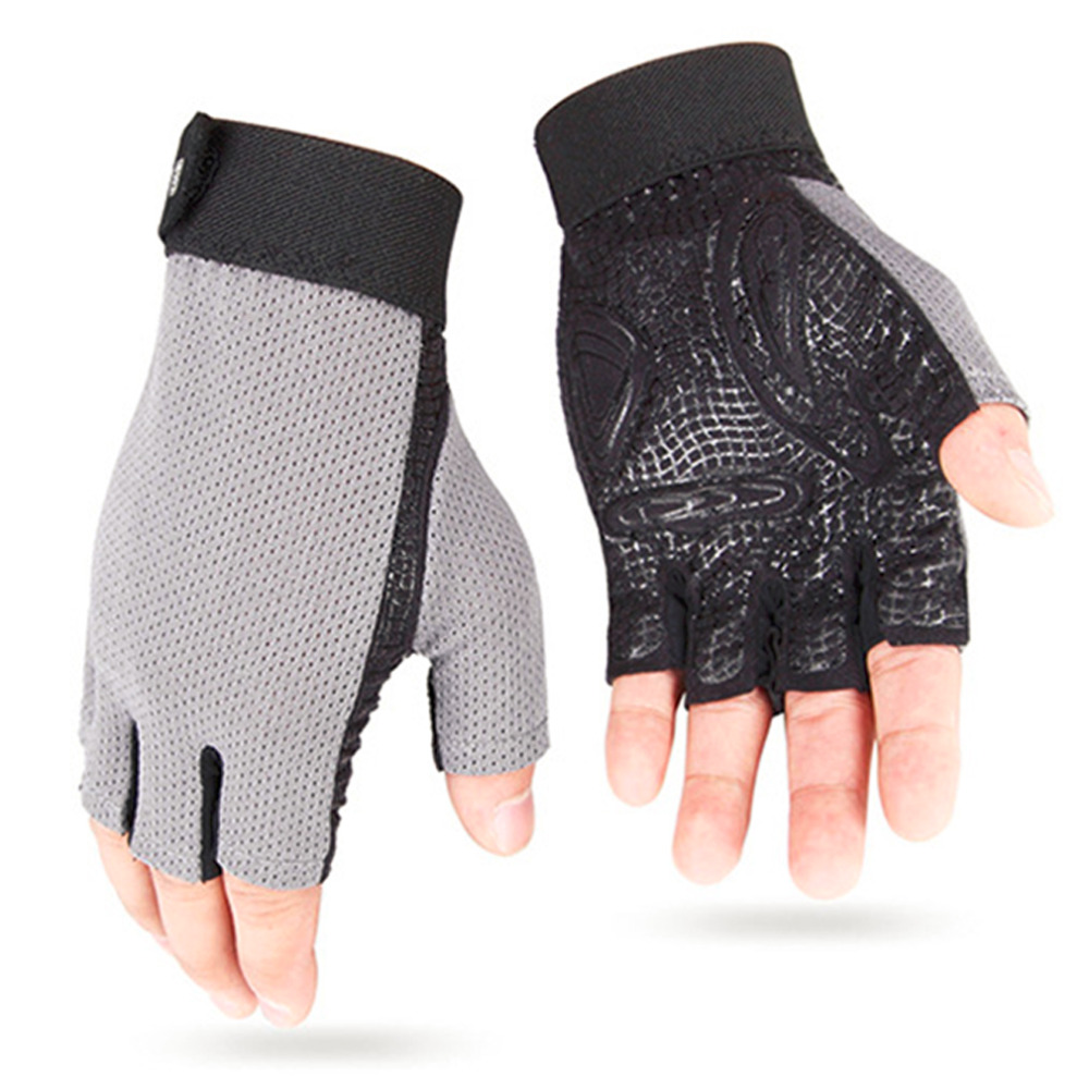 Outdoor Bike Hiking Breathable Sport Silicon Cycling Half Finger Gloves free shipping<br><br>Aliexpress