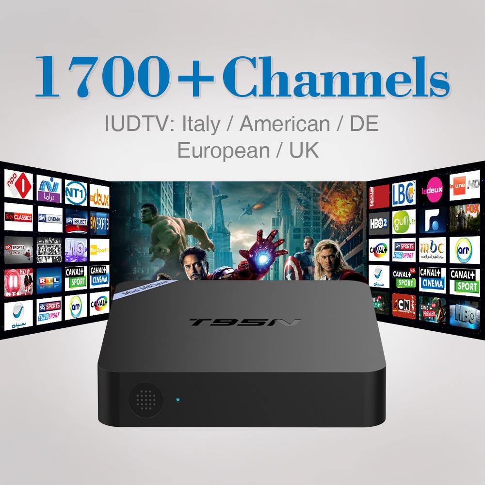 2017 1Year IPTV Set Top Box Italy UK DE European IPTV Box Spain Portugal Turkish Netherlands Smart TV Box Free