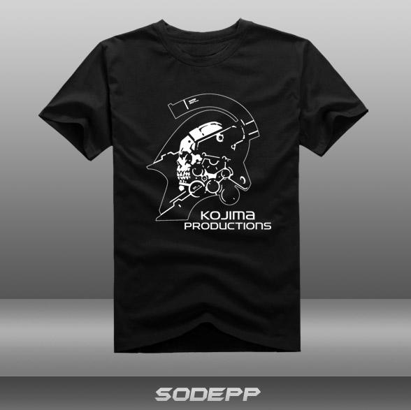 MGS Hideo Kojima island show,Metal gear solid/DIY men's short sleeve T-shirt cotton Round collar(China (Mainland))
