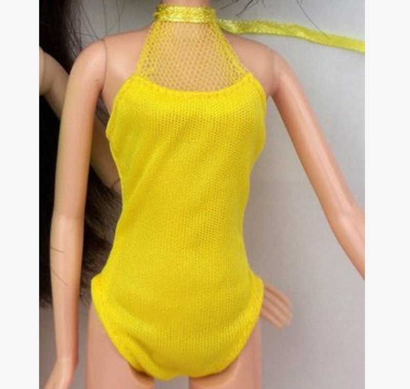 Doll Equipment Style One-piece Swimsuits Seaside Bathing Swimwear Garments For Barbie Doll Garments  For 1/6 BJD Doll