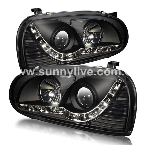 1992-1997 Year For VW Golf 3 MK3 LED Headlights LED Head Lamps Black Housing SN(China (Mainland))