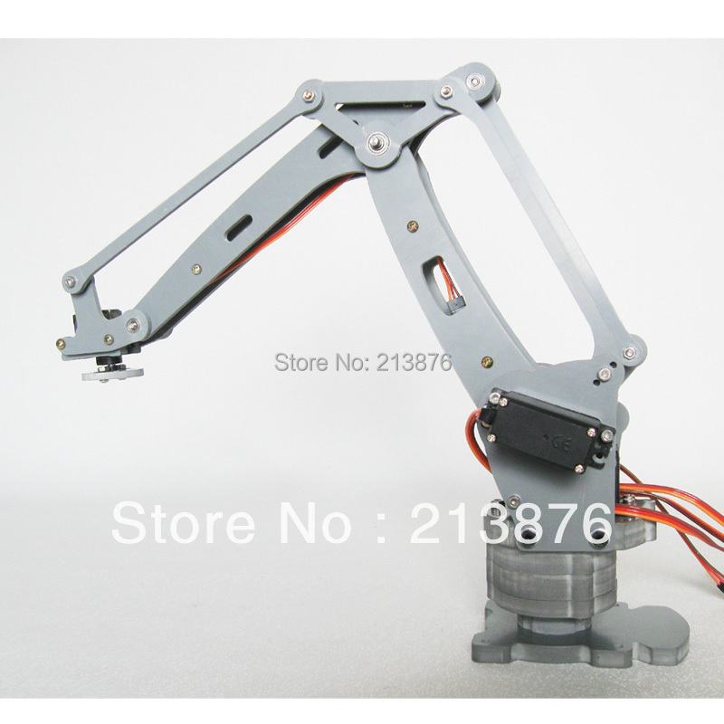 new version robot arm 4 axis stacker servos arduino Control Palletizing Model four w/oArduino Controller - Jinan G-Force Tech Development Co., Limited store