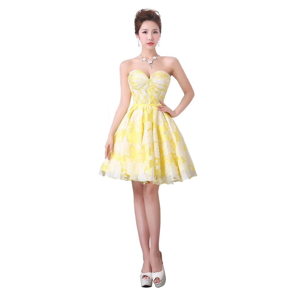 Yellow Cocktail Dresses 77
