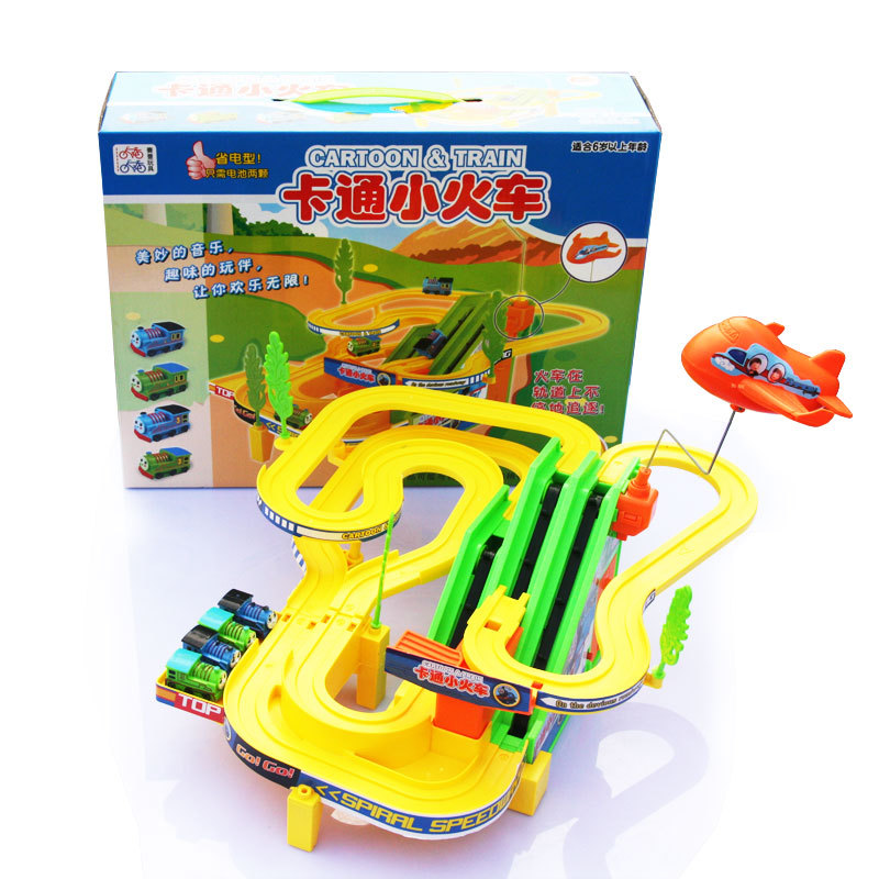 Free Shipping For Children Educational Toy Train Electric Rail Cars Toy Gift for Baby Boys & Girls classic car toys lada(China (Mainland))