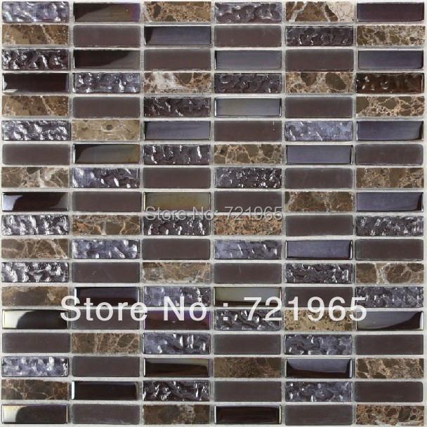 Design deco glass mosaic kitchen backsplash wall tiles SGMT034 stone glass mosaic backsplash tiles polished glass mosaic tile