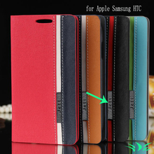 Leather Cases For iPhone 6 6S Plus Cover Phones & Accessories Leather Case for iPhone SE 5 5S HTC One M9 A9 M7 Desire 826 816