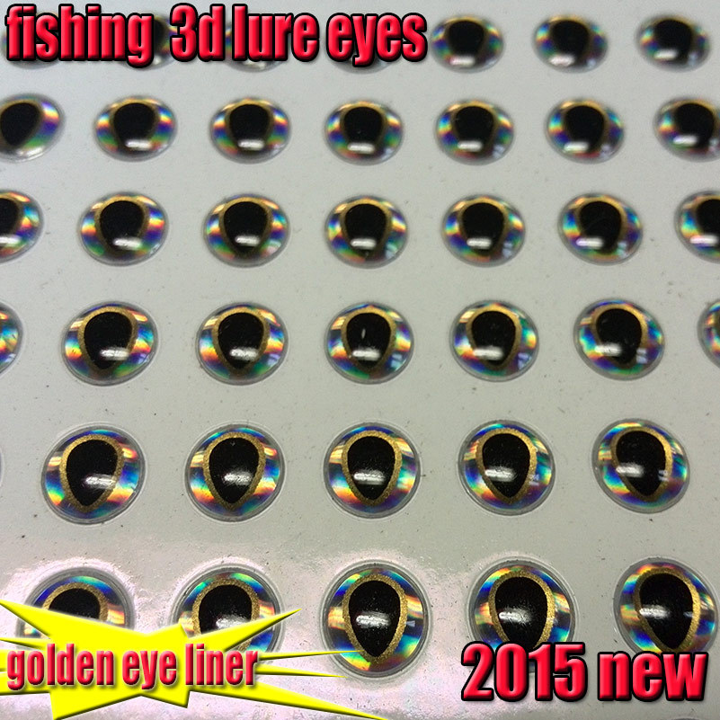2015new the most beautiful fish eyes 3d lure fly eyes size:4mm,5mm 6mm quantity:500pcs/lot(China (Mainland))