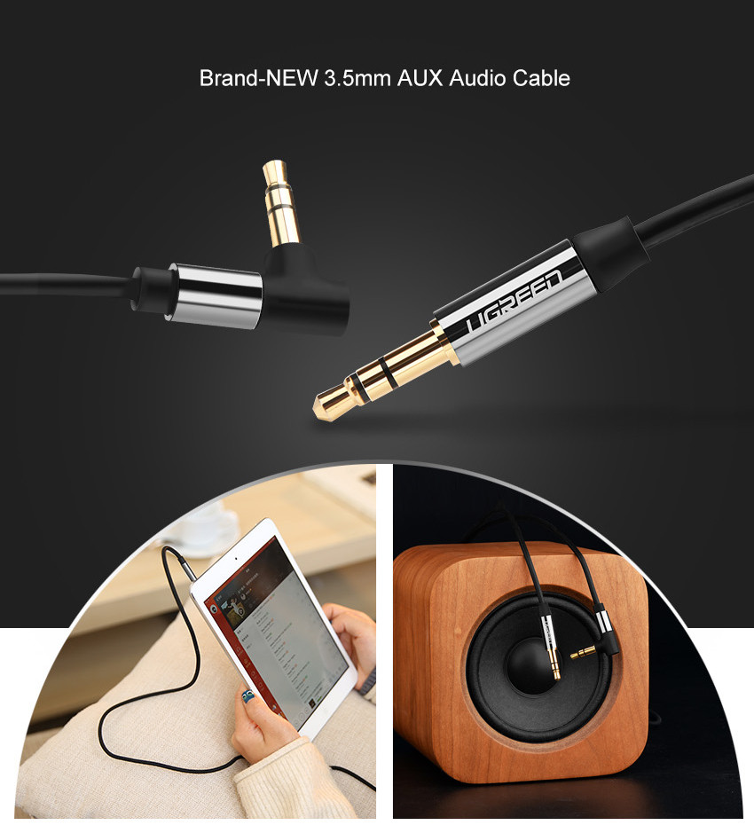 ugreen c ble audio jack 3 5mm plomb 90 degree voiture auxiliaire st r o aux cord ebay. Black Bedroom Furniture Sets. Home Design Ideas
