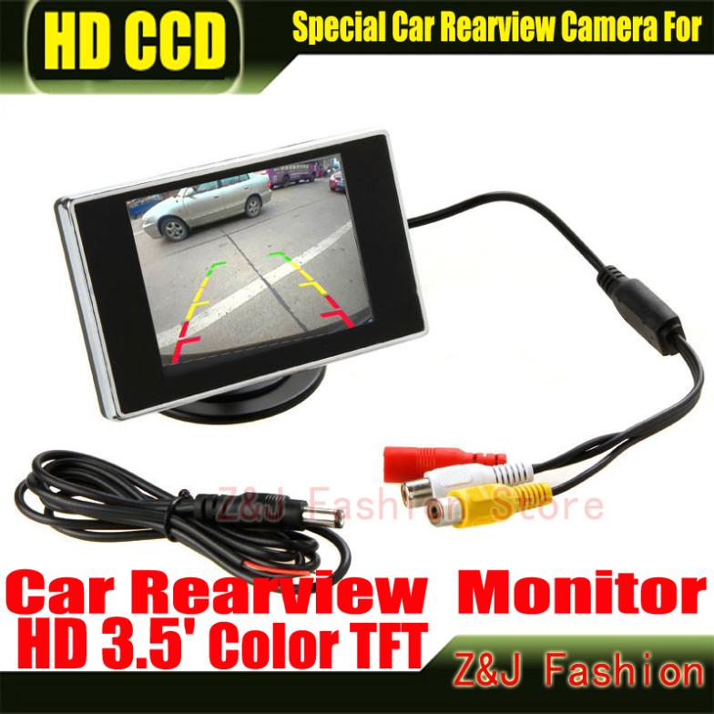 Free shipping New 3.5 Hign Definition Color Car monitor TFT LCD Rearview Monitor for DVD reversing camera Factory Selling(China (Mainland))