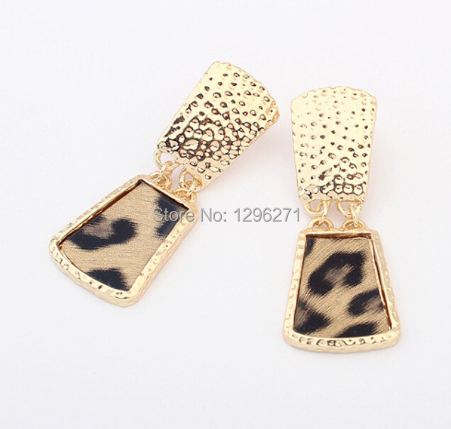 Wonderful 2014 New Hot Ethnic Women Gold Plated Bohemia Jelly Color Earrings