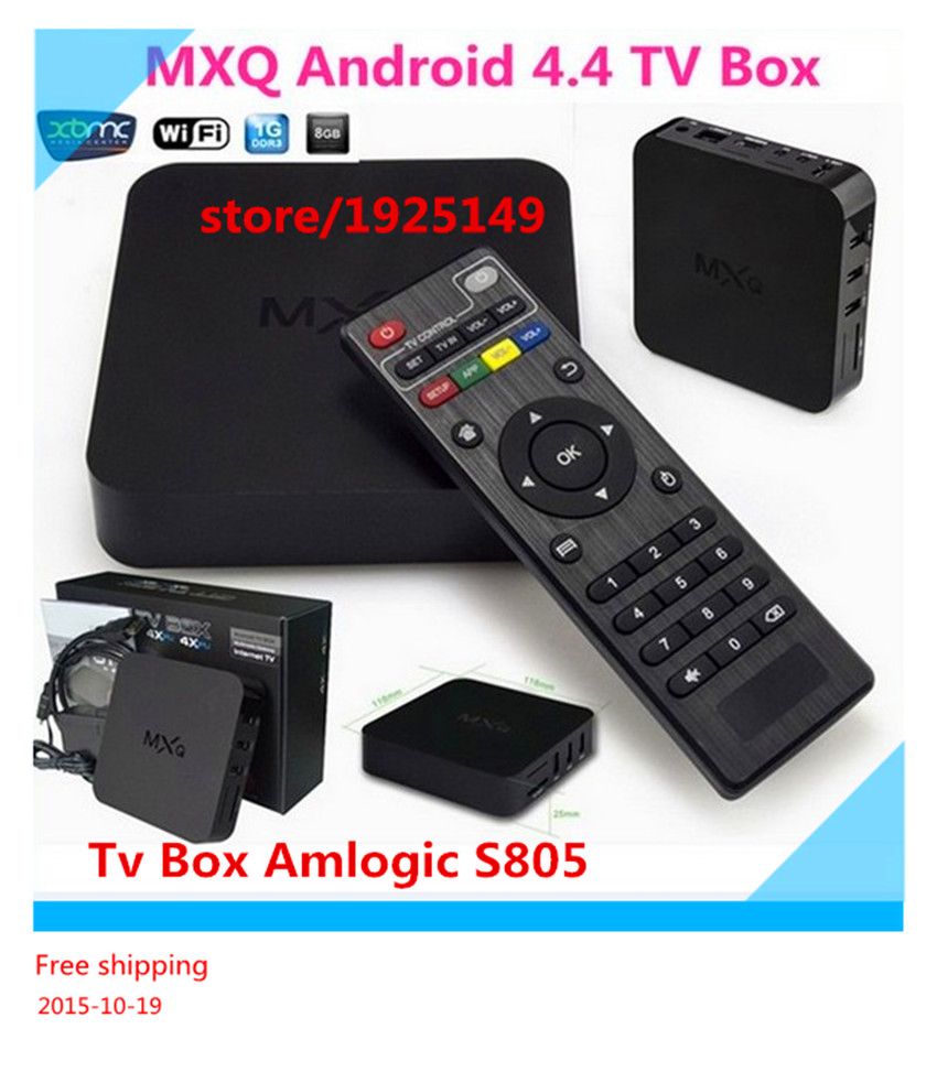 Vensmile MXQ android Tv Box Amlogic S805 Quad-Core 1GB/8GB Kodi Pre installed WiFi 1080P H.265 HD Media Player+Remote Control<br><br>Aliexpress