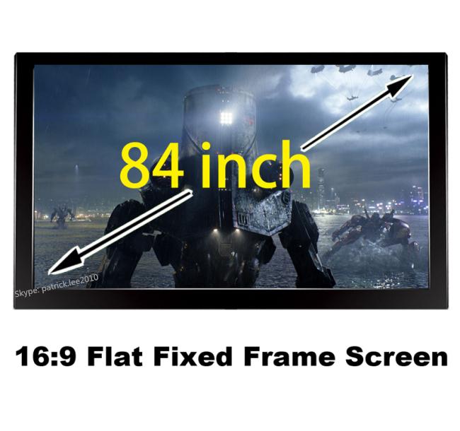 Здесь можно купить  Durable Home Cinema Screen 84 inch Diagonal With 16:9 Flat Fixed Frame 3D Projector Screens 80mm Black Velevt   Бытовая электроника