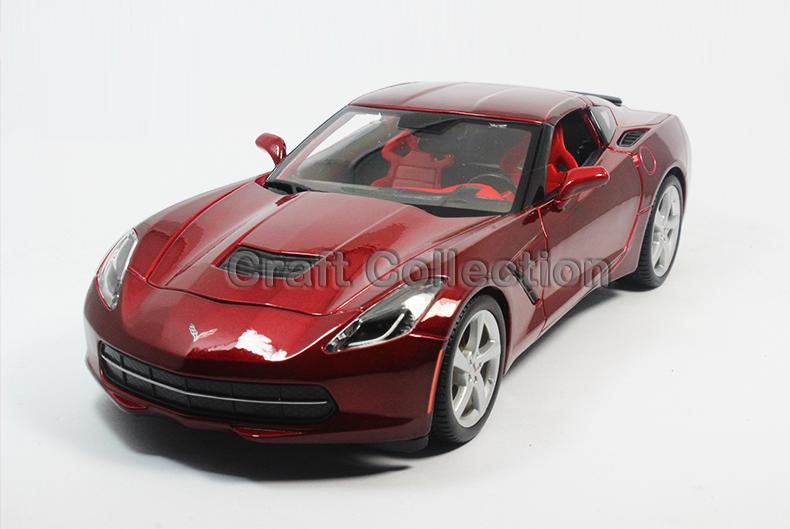 Red 1:18 Chevrolet Corvette Stingrag 2014 C7/Z51 Coupe Sport Car Diecast Model Classic Toys Car Replica(China (Mainland))