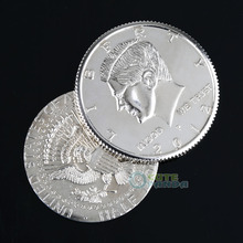 Close-Up Street Magic Flipper Coin Half Dollar Coin Vanish & Appear Party Props(China (Mainland))