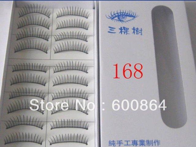 50pairs 168# Fashion Eyelashes eyelash extension False Eyelashes Fake Eyelashes artificial eyelash Hand made Eye lash