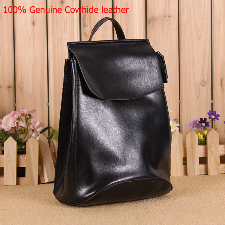 2015 Brand New Women Korea Fashion Genuine Cowhide Leather Backpack Girl Travel School Bag All-match  SMB028<br><br>Aliexpress