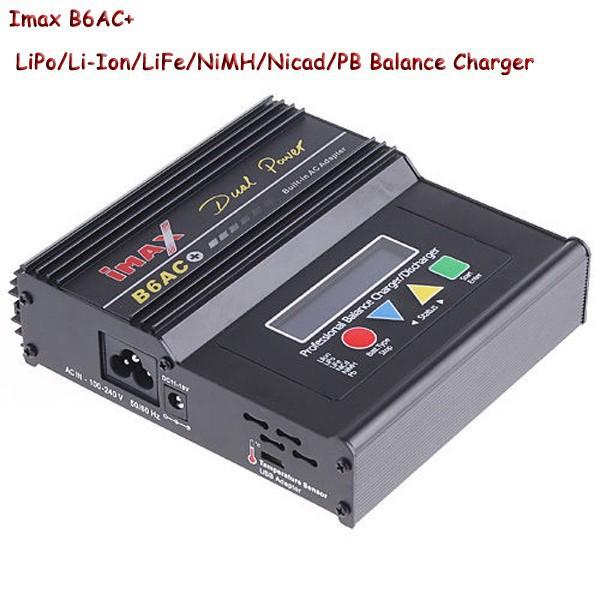 Battery Charger Imax B6AC + B6AC+ LiPo/Li-Ion/LiFe/NiMH/Nicad/PB RC Balance Charger New(China (Mainland))