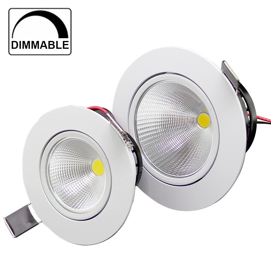 dimmable led cob chip downlight recessed led ceiling light spot light. Black Bedroom Furniture Sets. Home Design Ideas