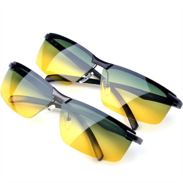Поляризованных солнцезащитных очков желтые очки ночного видения мужские вождение ...