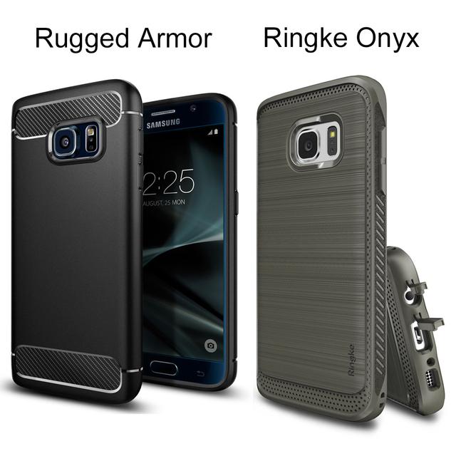 Оригинальный ПМГ Прочный/Ringke Оникс Чехлы для Galaxy S7 (5.1 дюймов) прочный Гибкий ТПУ Защитные Чехол для Samsung Galaxy S7