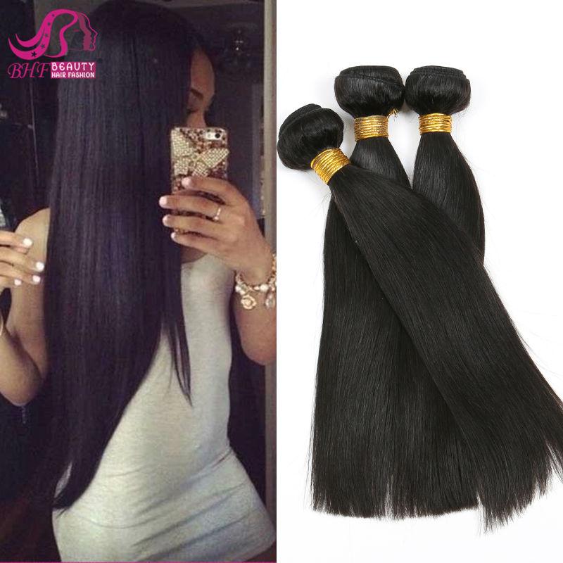 6A Raw Brazilian Virgin Hair Extensions Top Human Remy Hair Straight 4Pcs Lot Brazilian Hair Weft 400g DHL Free Shipping(China (Mainland))