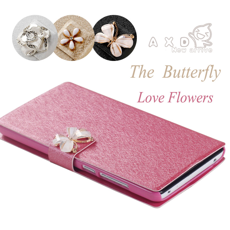 New Silk High Quality Flip Mobile Phone Bags Cases For Lenovo A916 a 916 Luxury Camellia Nice Cell Case Cover +Free Shipping(China (Mainland))