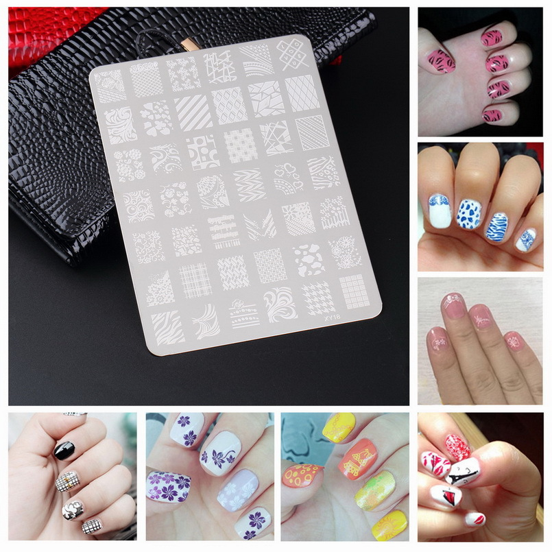 1pcs 2015 NEW Flower Nail Art Stamp stamping Template Image Print Metal Stencil Print Plate nail tools(China (Mainland))