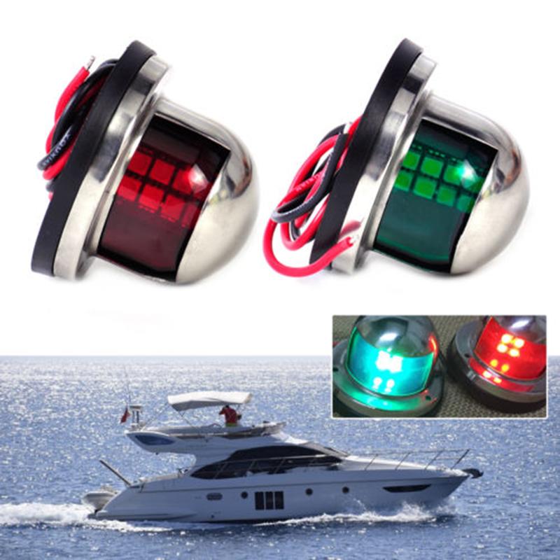 Marine Boat Yacht Light 12V LED Bow Navigation Lights Red Sailing Signal Light Boat Yacht Marine Led Traffic Light Trafficking(China (Mainland))