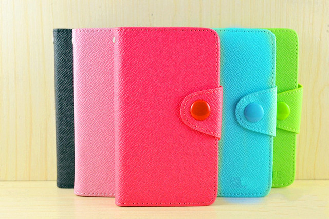 Fancy PU Leather Wallet Case Cover With Magnetic flap closure Diary for SAMSUNG GALAXY Y PRO B5510 Smart Mobile Phones