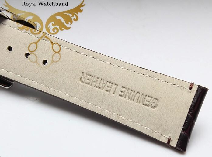 22 мм часы полоса высшего ранга стали пряжки черный крокодил картина натуральной кожи ремешки полосы ремень