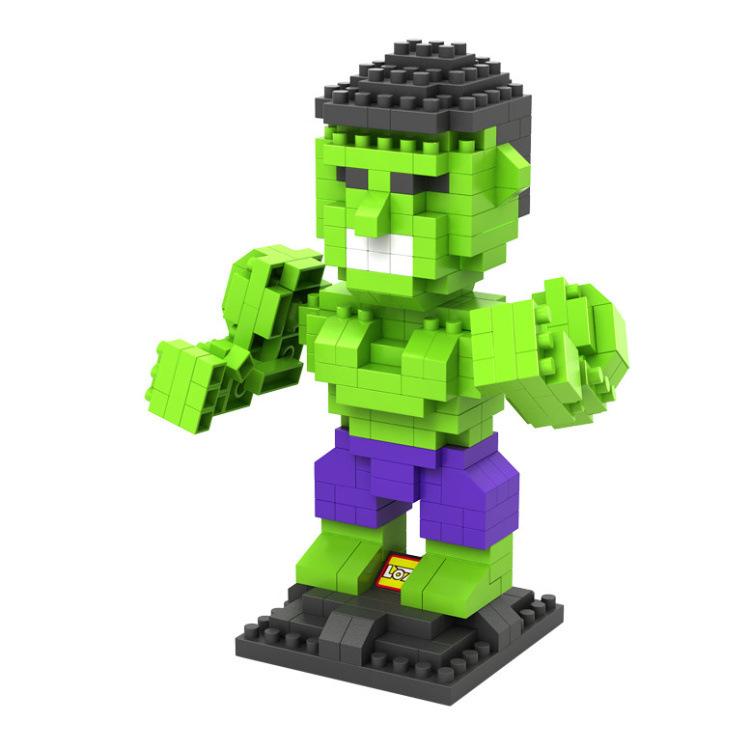 LOZ Diamond Mini Blocks Model Building Kits PVC Kids Toys 3D DIY Marvel The Avengers THE HULK Model Plastic Brick Toys(China (Mainland))