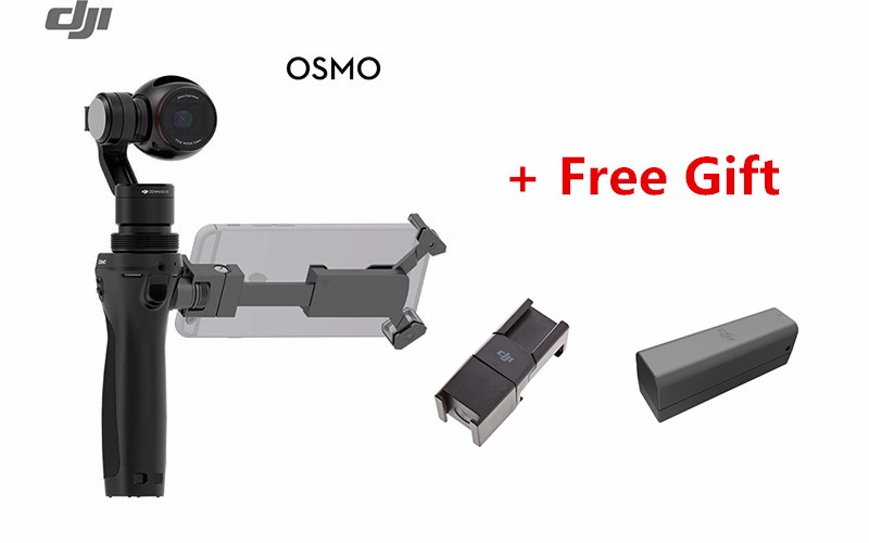 Original DJI OSMO Handheld 4k Camera Drone FPV 3 3-Axis Gimbal with Extra Battery & Quick Release 360D Mic Mount (In Store)