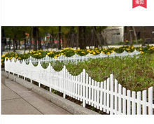 Free shipping,5pcs/lot,60*33cm,Inserting ground white Plastic fence.pet fence.rustic decoration.christmas fence.garden supplies