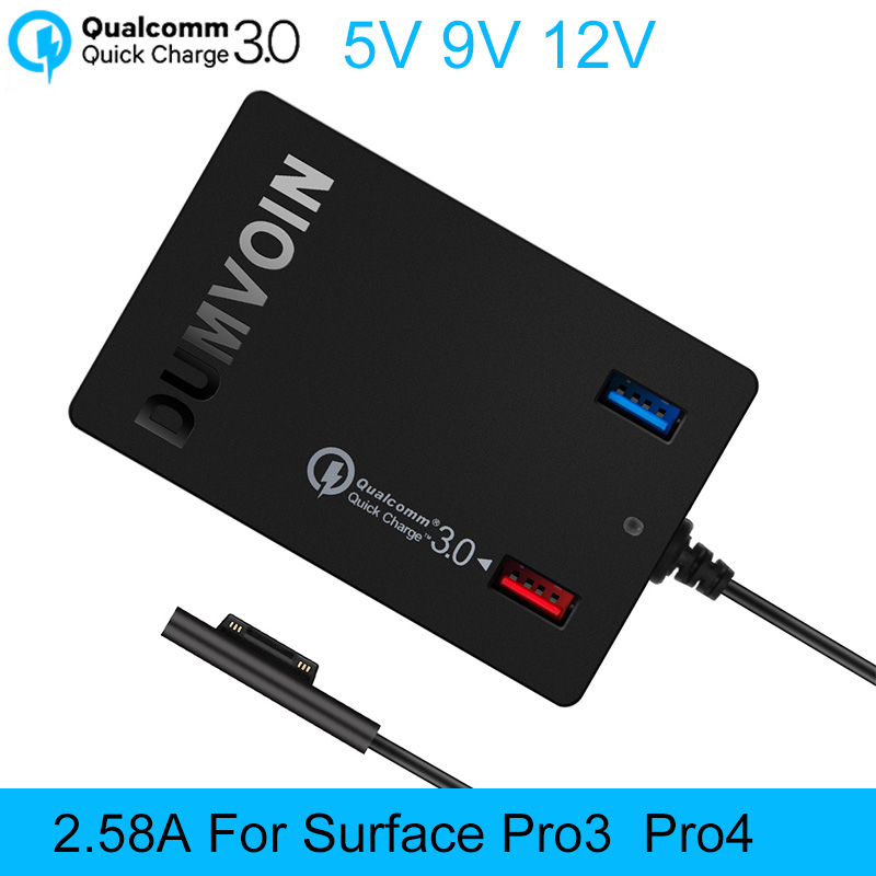 Surface Pro 3 Pro 4 Charger,DUMVOIN 72W 12V 2.58A Adapter Power Supply Charger with QC 3.0 for Microsoft Surface Pro 3 Pro4(China (Mainland))