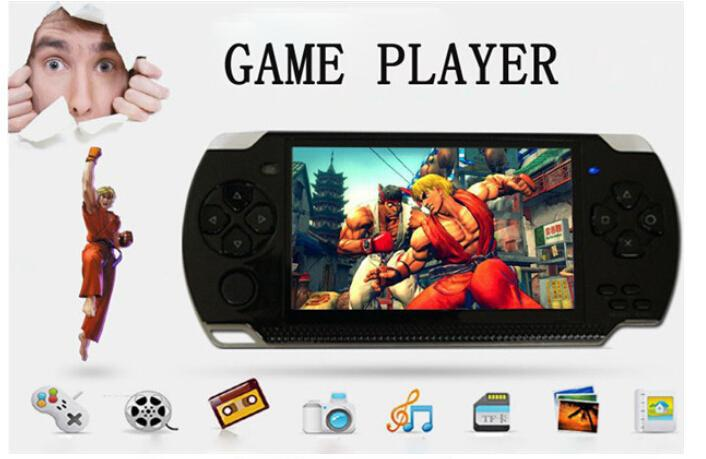 Hot sell 4GB 4.3 Inch PMP Handheld Game Player s3000 MP4 MP5 Player Video FM Camera Portable Game Console(China (Mainland))