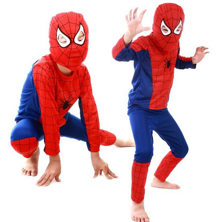 Spiderman Halloween Costume For Kids Children Christmas Costume Spider Man Cosplay Dancewear Clild Party Dance Wear(China (Mainland))