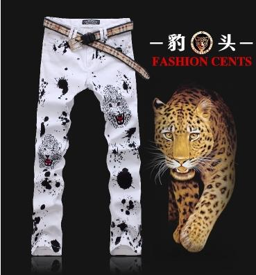 Фотография England Printed Steller painting pants cotton fashion true jeans men famous brand mens jeans pants skinny jeans men trousers