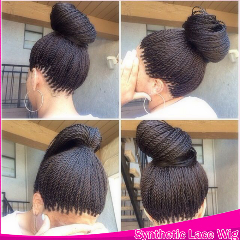 Havana Crochet Micro Long Twist Braids Hair Synthetic Lace Front ...