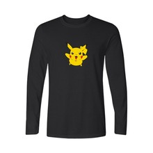 Game Pokemon Go Black Famous Brand Printed T Shirt Men Long Sleeve T-shirts with Summer TShirt Brand in Pocket Monster Tees